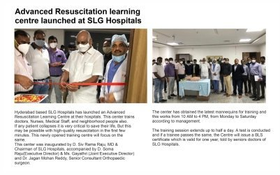 Advanced Resuscitation Learning Centre launched at SLG Hospitals