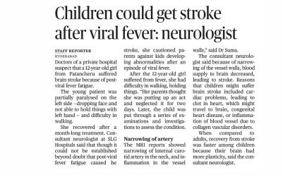 Children could get stroke after viral fever