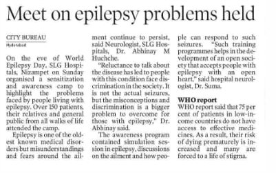 Simulation Session on Epilepsy held In SLG Hospitals