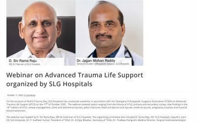 Webnar on Advanced Trauma Life Support Organized by SLG Hospitals