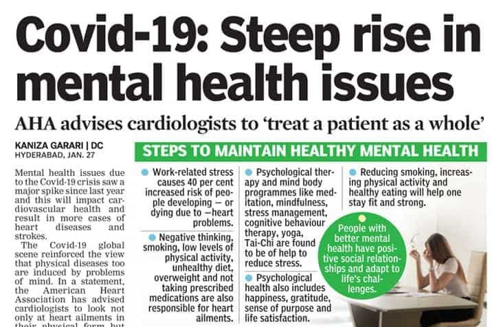 Covid-19 : Steep rise in mental health issues