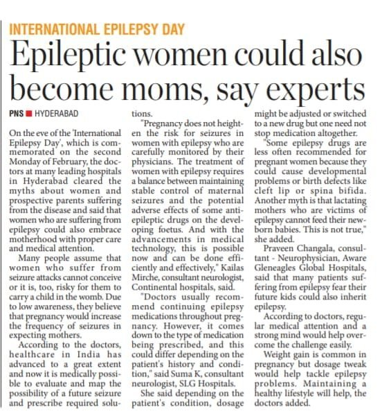 Epileptic Women could also become moms, saya experts